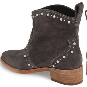 Anthropologie Shoes - NEW Anthropologie Tobin Studded Bootie Grey Suede
